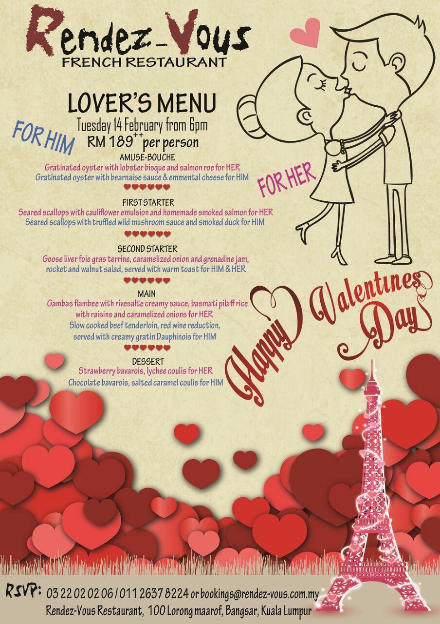 Valentineu0027s Day 2017 ? Romantic Dinners In Kuala Lumpur, Klang ...    Valentine
