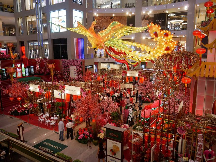 OK enough photos of food! Here's a photo of the Chinese New Year decorations at Pavilion Kuala Lumpur when I was there for Carlsberg's CNY launch recently.