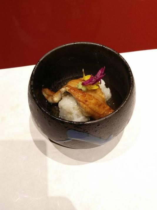 Grilled Sea Eel With Harvest Steamed Yoshino-Kuzu Ankake The Sea Eel (Yaki Anago)