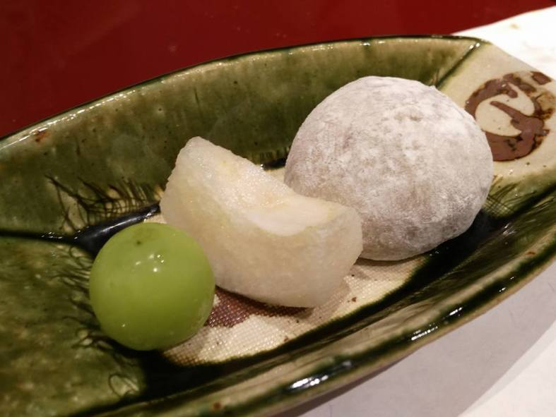 Rice cake stuffed with bean paste (from Shiga)