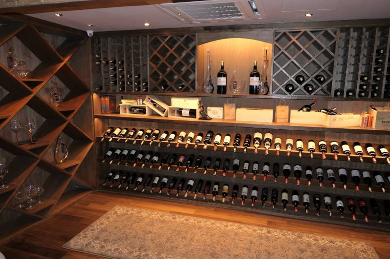 A large selection of wines are available - from affordable labels to the more premiums ones
