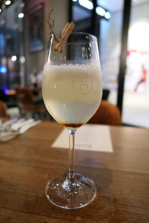 Modified Pisco Sour with Gula Melaka