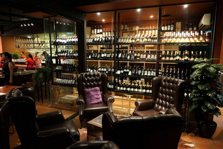 There are some nice sofas which are great for lounging in while having some wine or drinks