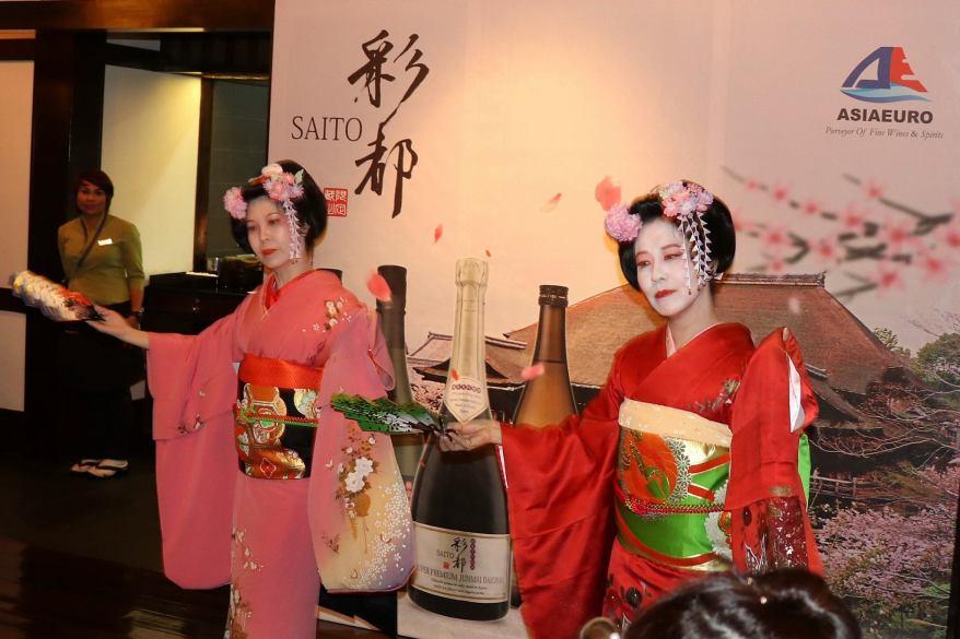 We were treated to a Japanese geisha performance
