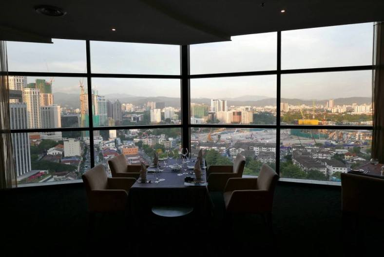 If possible, try to get a table by the window which offers a nice view of the KL skyline