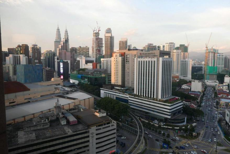 The view from Samplings on the Fourteenth which is on the fourteenth floor of Berjaya Times Square Hotel Kuala Lumpur