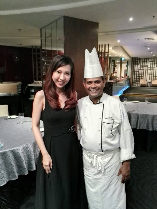 My partner in crime with Chef Val