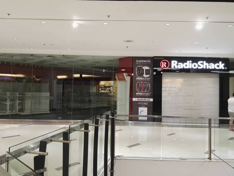 The Radioshack outlet has closed down