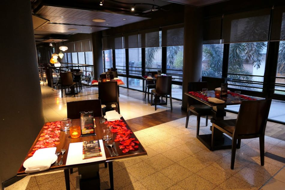 The tables will be decorated with rose petals for the Valentine's Day dinner