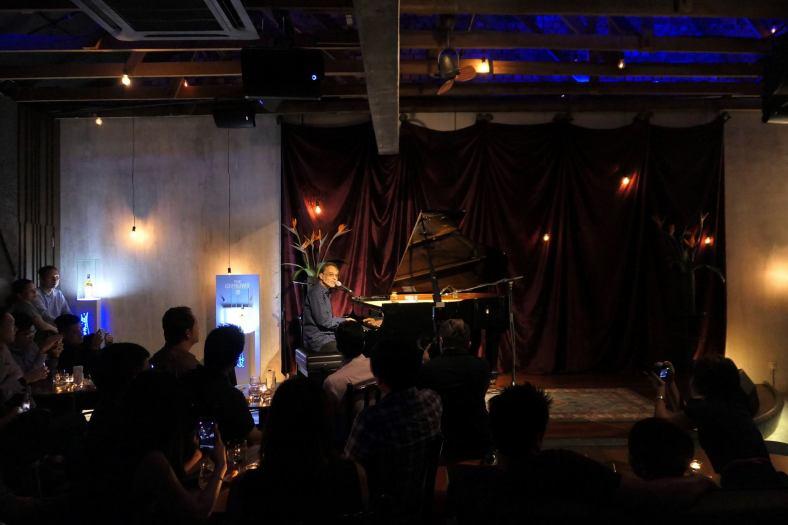 David Gomes on the piano