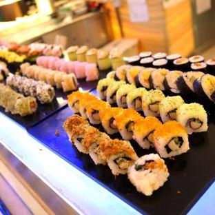 Fresh sashimi and sushi