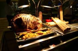 Roast lamb and nasi briyani