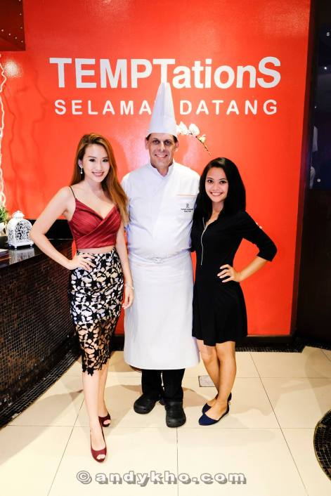The girls with Executive Chef Helmut Lamberger