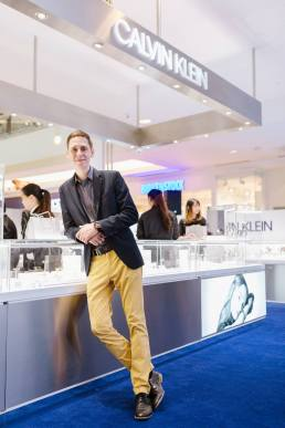 Pascal Scherer, the regional sales manager of Calvin Klein watches + jewelry