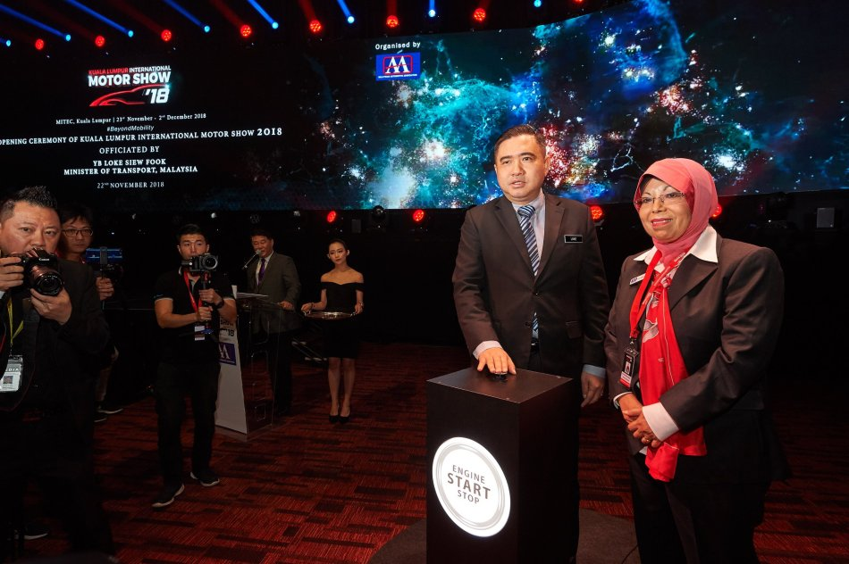 YB Anthony Loke Siew Fook and Dato Aisyah Ahmad officially launching KLIMS 2018