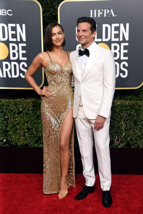irina shayk in atelier versace at the 76th annual golden globe awards (jan 6)