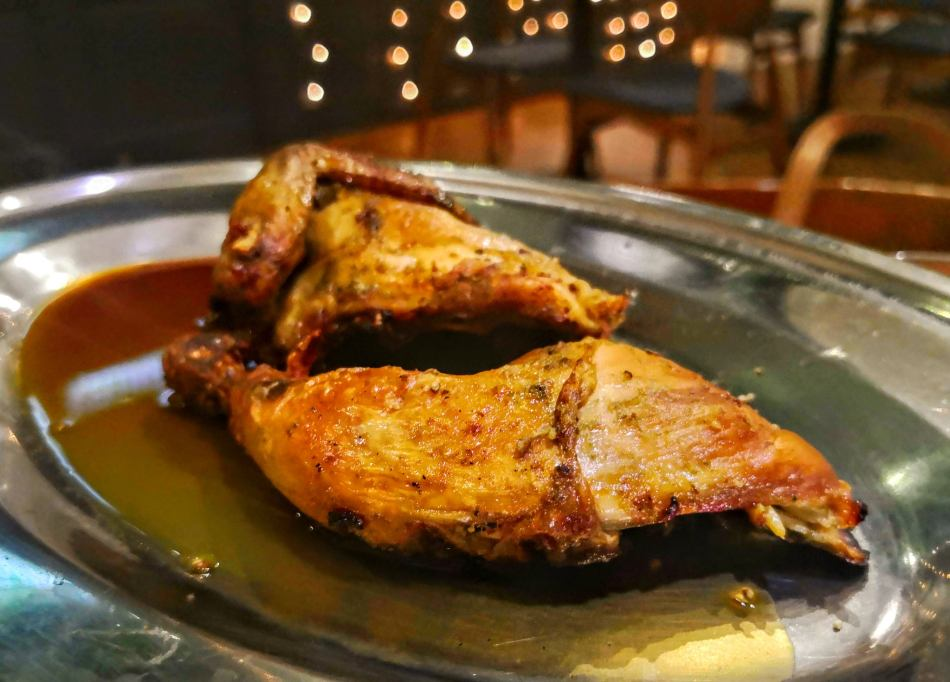 Roasted Chicken served with traditional chicken jus