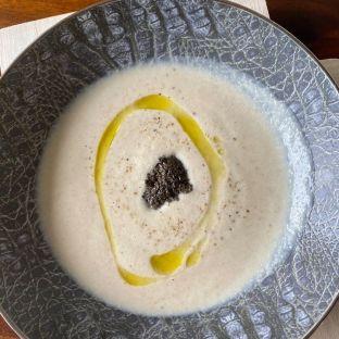 Celeriac velouté soup with black truffle