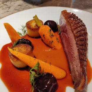 7 days aged Margaret De Canard with Cherry Gastrique and Potato fondant Half Breast-Rm60.00 Full Breast-Rm100.00
