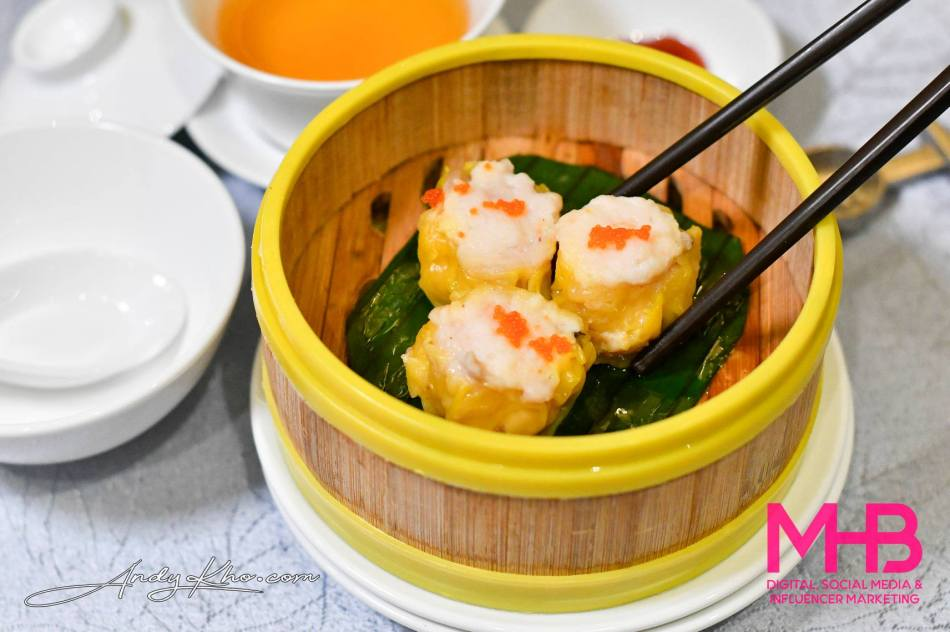Steamed Siew Mai with Flying Fish Roe