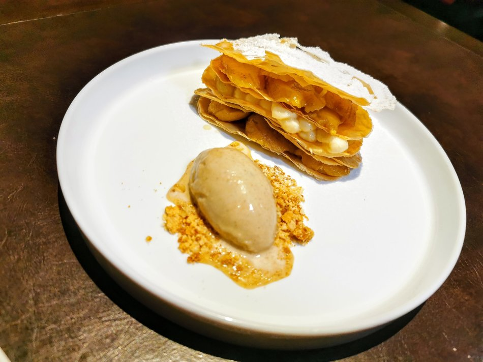 Coffee & banana mille-feuille at Bref by Darren Chin