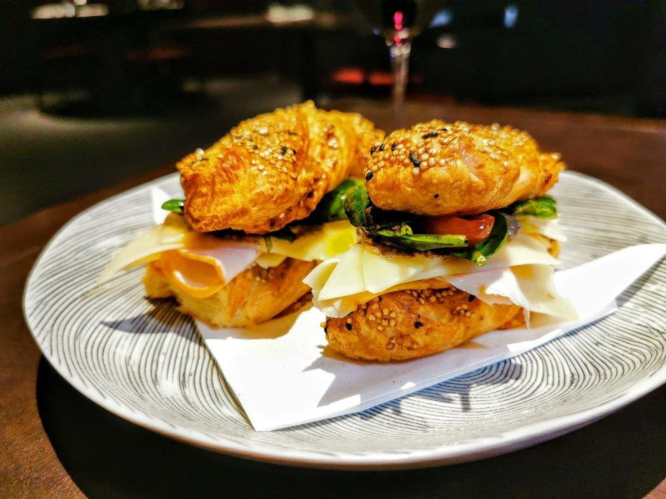 "Ham-cheese-truffle ""sandwich"" at Bref by Darren Chin"