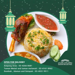 Qasar Balqis Restaurant Ramadan 2020 Menu