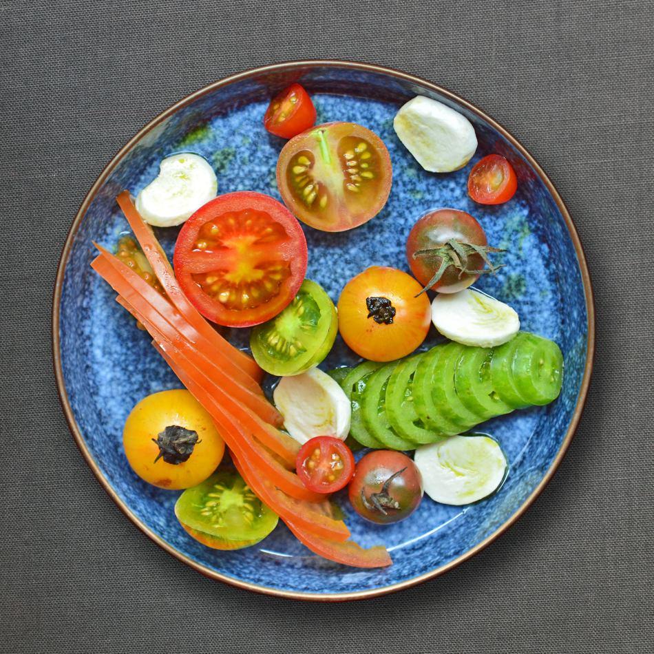 Artisan Heirloom Tomatoes, Buffalo Mozzarella