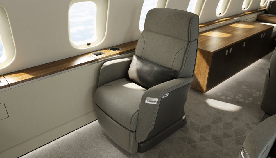 Bombardier's patented Nuage seat