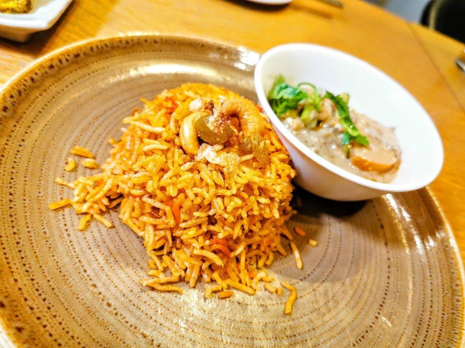 Zafrani Vegetable Biriyani and Vegetable Korma