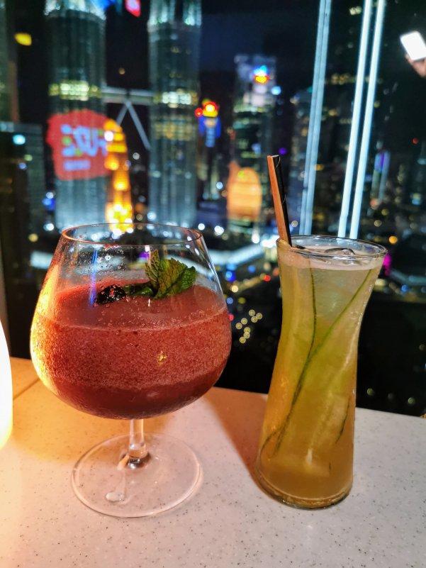 Ceri Ceri cocktail and Jasmine cocktail at Skybar Kuala Lumpur