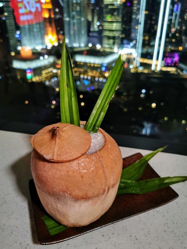 Coconut Pandan cocktail at Skybar Kuala Lumpur