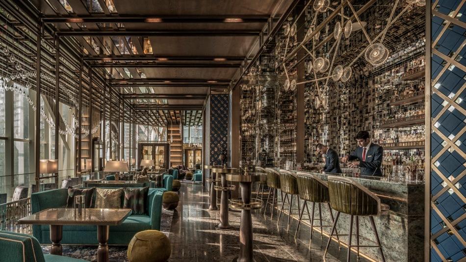 Interior and bar of Bar Trigona Four Seasons Kuala Lumpur Malaysia